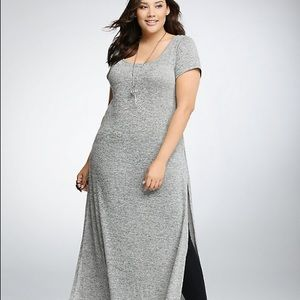 Torrid size 2 long slit T-shirt dress